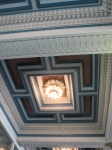 Original ceiling in the Acela waiting room