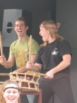 Guttural shouts are a key to taiko drumming