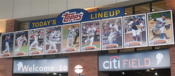 The Mets starting lineup.