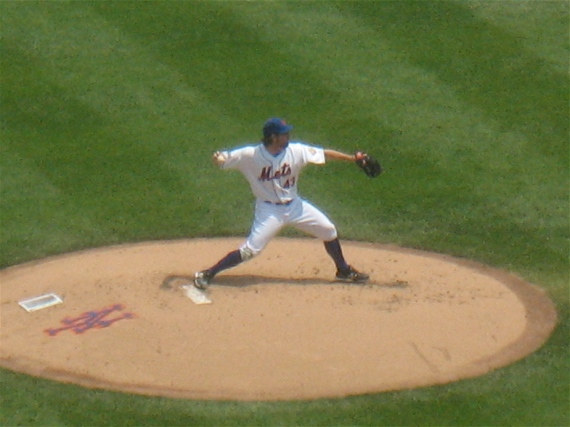 R.A. Dickey on the mound.