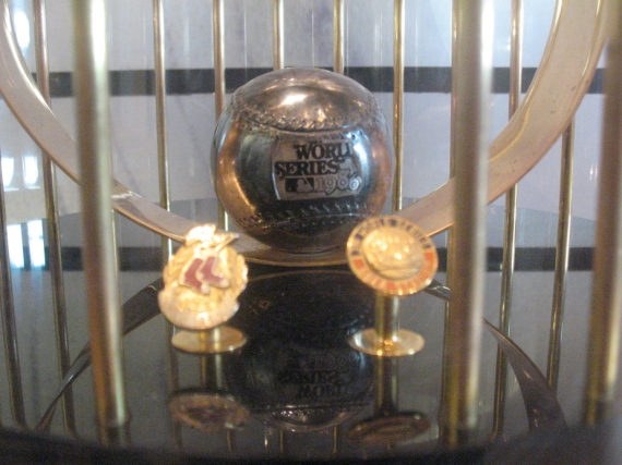 Detail of the trophy.