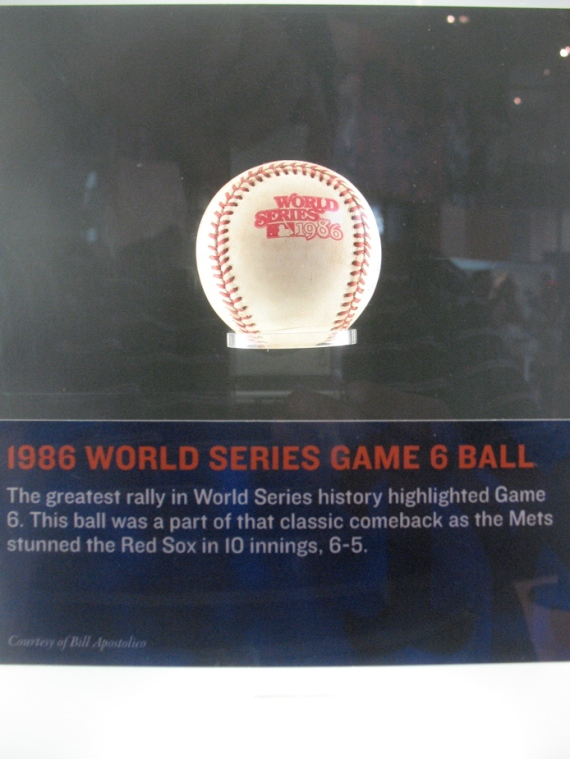 Ball from Game 6 of the 1986 World Series.