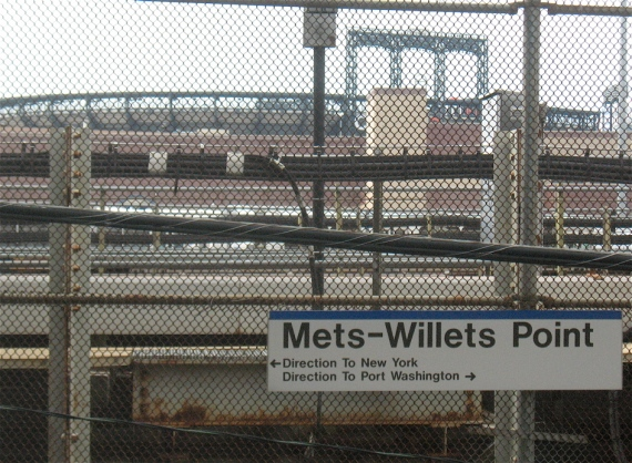 View of the ballpark from the LIRR platform.