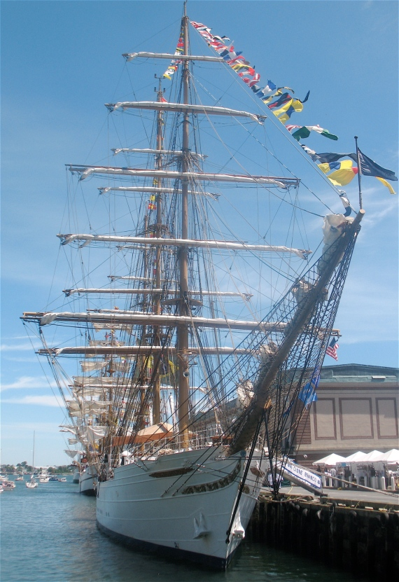 Brazil's Cisne Branco at the Fish Pier.