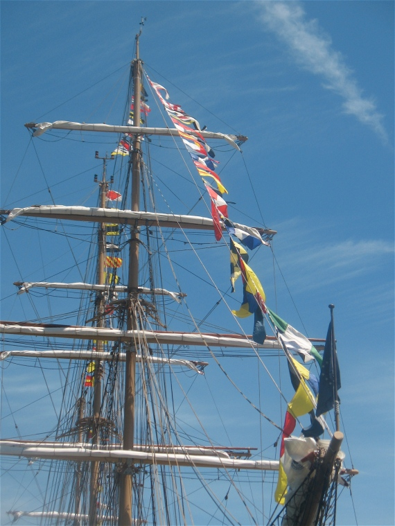 Mast of the Cisne Branco.