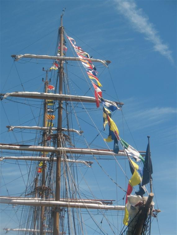 Mast of the Cisne Branco.