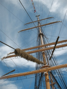 Mast of the USCG Barque Eagle.