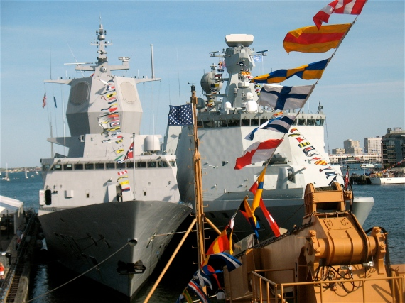 Norway's HNOMS Thor Heyerdahl and Denmark's  HDMS Esbern Snare.