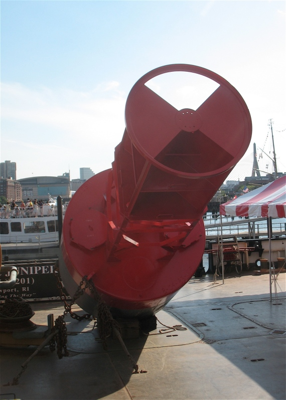 A buoy on the deck of USCGC Juniper.