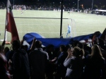 Supporters celebrate the fourth and final goal of the night.