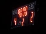 The finals score.  Harvard, er, New England wins!!!