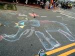 Chalk art elephant.