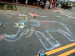 Chalk art elephant.