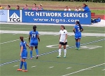 The Breakers try to defend against Alex Morgan.