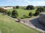 A view of the parade grounds from above.