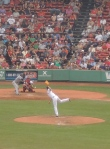 Koji Uehara pitching.