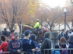 Before the arrival of the Duck Boats, police, EMS, and even a truck with coffee received accolades from the crowd.