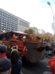 The Duck Boats wore beards for the parade.