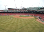 A view of the field from the Green Monster.