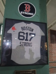 The Boston Strong memorial jersey.