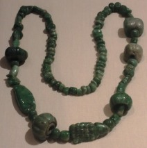 A jade necklace.