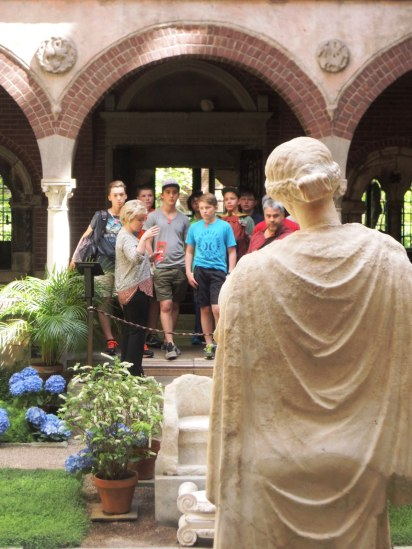 The goddess Persephone welcomes school groups