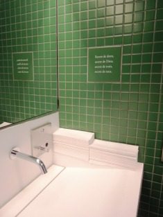 French poetry in the men's room? Why not?