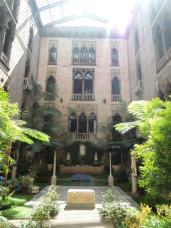 The central courtyard