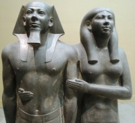 King Menkaura (Mycerinus) and queen Egypt 2490-2472 BC