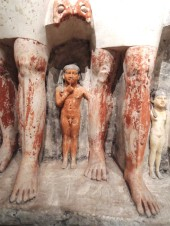 "Pseudo-group statue of Penmeru Egypt 2465-2423 BC ""The kids"""