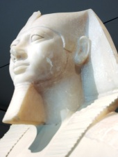 Colossal statue of King Mengkaura Egypt 2490-2472 Detail of head.