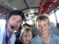 Professor Quackinstein lets the kids take the wheel.