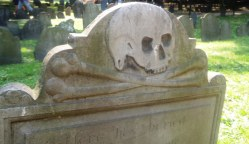 Skull & crossbones at Granary Burying Ground.