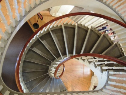 The circular staircase of the Old State House dates to 1830 when it was renovated to be Boston City Hall.