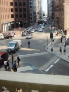 The view from the Old State House balcony.