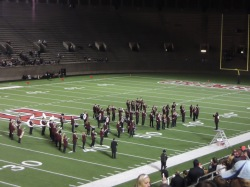 The band's half time show was full of painfully bad jokes.