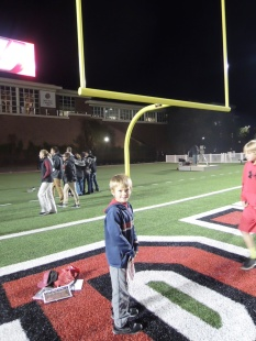 Peter in the end zone