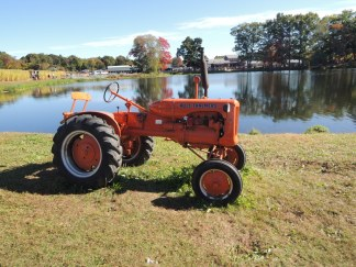 Allis Chalmers by the pond.