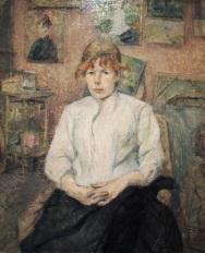 Henri de Toulouse-Latrec, Carmen Goudin in the Artist's Studio, 1888