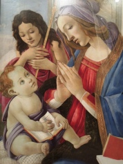 Sandro Botticelli, Virgin and Child with Saint John the Baptist, about 1500 (perhaps the most beautiful painting in the MFA!)