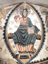 """Christ in Majesty with Symbols of the Four Evangelists, Spain (Catalan), about 1150-1200. (This is the image of Jesus most likely to say 'Duuude!"""")`"""