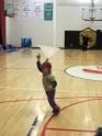 Indoor kite flying.