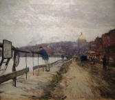 Childe Hassam's view of Charles River and Beacon Hill (about 1892).