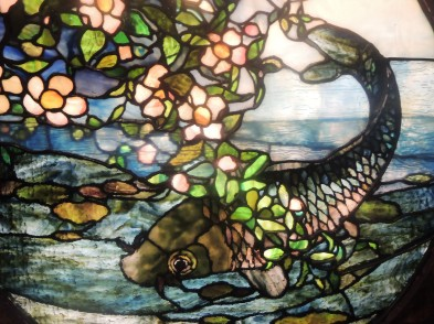 Susan really liked The Fish (about 1890) captured in stained glass by John La Farge.