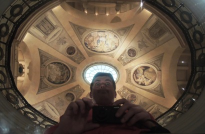 Selfie under the Sargent murals.
