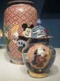 Mickey Mouse vase and Underdog vase by Michael Frimkess and Magdalena Suarez Frimkess. Note: Nov. 18 is also Mickey Mouse's birthday.