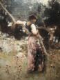 John Singer Sargent captures Italian model Rosina Ferrara in A Capriote (1878).