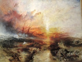 "The most disturbing artwork can be the most effective. Joseph Mallord William Turner, ""Slave Ship,"" 1840"