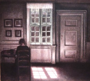 "Between Vermeer and Hopper. Vilhelm Hammershai, ""Woman in an Interior,"" 1900-09"
