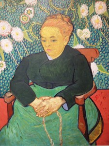 "Vincent van Gogh, ""Lullaby: Madame Augustine Roulin Rocking a Cradle (La Berceuse),"" 1889"